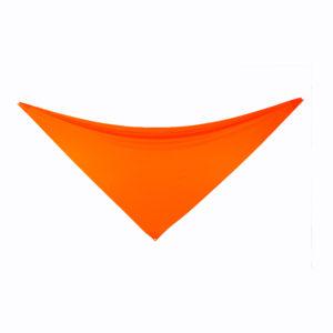 Orange 3-point lycra sails.