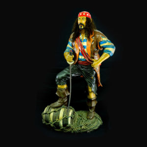 Lifesize pirate statue.