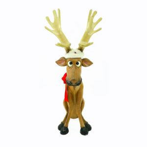 Big-eyed Christmas Reindeer statues. Large. 2 in stock.