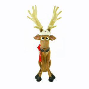 Big-eyed Christmas Reindeer statues. Large. 2 in stock.