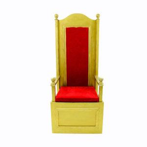 Red throne. Santa Chair.