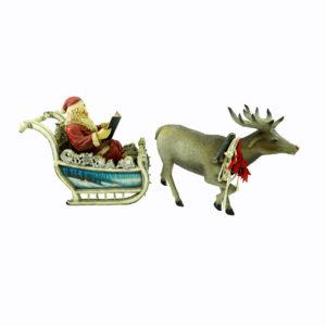 Large Christmas Reindeer statue. Realistic look. Santa in sleigh hired separately.