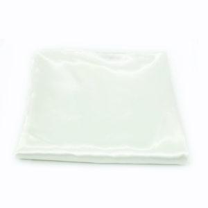White satin round tablecloth - 1.2m.