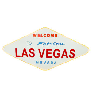 "Large Sign - ""Welcome to Las Vegas"" with lights."