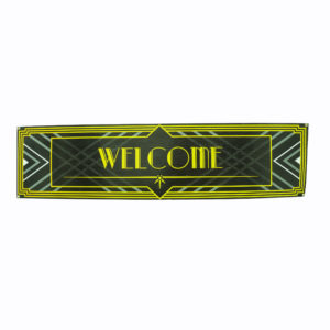 "Large corflute ""Welcome"" sign for 1920's or Gatsby styled events."
