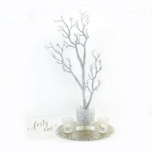 Silver Manzanita centrepiece.