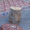 Timber log/stump.  Can be used as seats. Can be used as base weights.