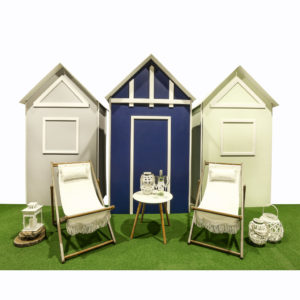 Beach huts. Add a coastal vibe to your event.