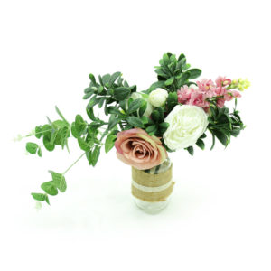 Pink and white bouquet of flowers for styling.