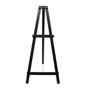 Black Timber Easel - 180cm high - gap to fit sign is 70cm max.