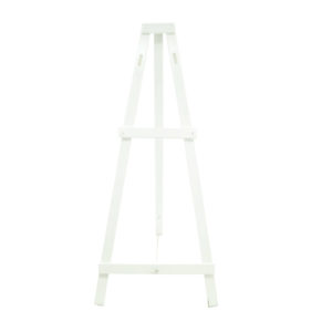 White Timber Easel - 180cm high - gap to fit sign is 70cm max.