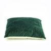 Cushions - dark green velvet loook/feel.