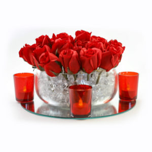 Classic red rose centrepiece.