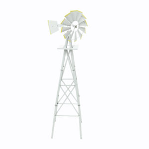 Small grey iron windmill.