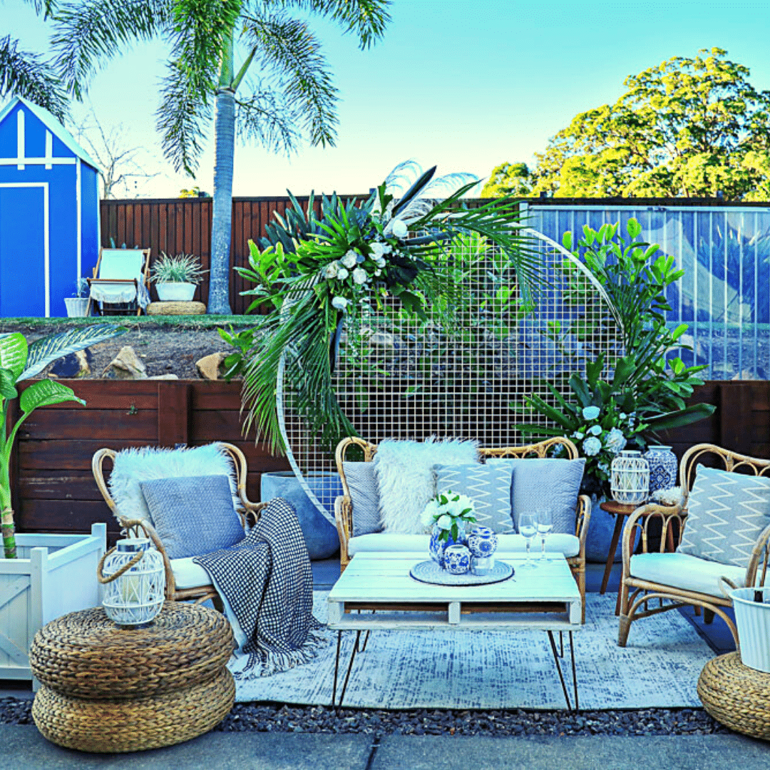How about a trip to The Hampton's? Save money on flights and create this stunning Hampton's inspired theme in your own backyard!  You will easily mistake your surrounds for a luxurious 5 star destination. Invite your favourite friends and family to join you, then sit back, relax and enjoy...