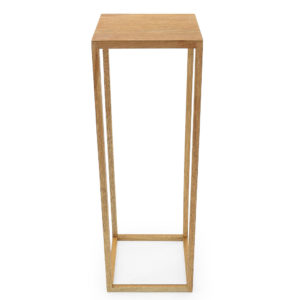 White timber stands. Square top. Useful as a stand or as a creative table centrepiece. 90cm tall. 30cm all sides.
