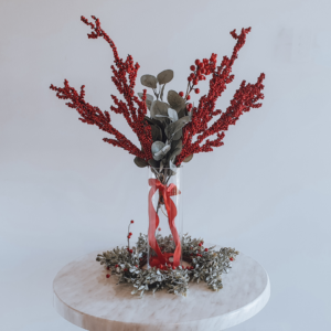 Red Berry Christmas centrepiece.