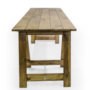 1 x Timber Trestle Table with 2 x large rustic Bordeaux timber wine barrel. Wine Barrel's are made from recycled timber giving a weathered industrial look. Matched with the Timbre Trestle Table, it makes a dramatic and welcoming drinks station. Great for parties, country and western events or Octoberfest events.