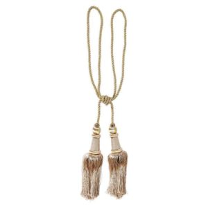 Cream & Gold tassels. Adds an elegant look to Red Curtain arbour, when used to pull back curtain lengths.