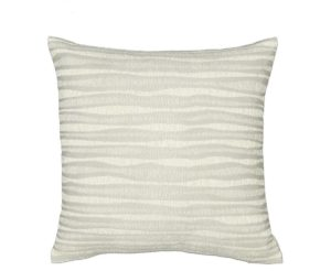 Zebra-Stripe patterned cushion, coloured with cream/ neutral tones